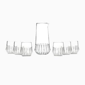 Caraffa con set di bicchieri piccoli Mixed di Felicia Ferrone per fferrone