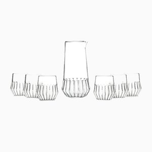Mixed Carafe with Small Glasses Set by Felicia Ferrone for fferrone