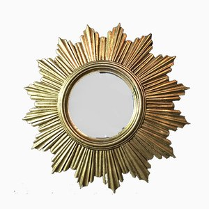 Vintage French Sunburst Mirror, 1970s