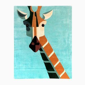 Dandy Giraffe Carpet in Vegan Tencel & Linen by Josh Brill for Junior Monarch