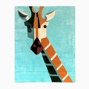Dandy Giraffe Teppich aus veganem Tencel & Leinen von Josh Brill für Junior Monarch