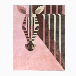 Bon Bon Zebra Teppich aus veganem Tencel & Leinen von Josh Brill für Junior Monarch