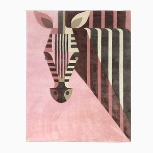 Bon Bon Zebra Carpet in Silk & Wool by Josh Brill for Junior Monarch