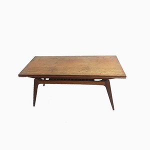 Table Basse à Rallonge Scandinave, 1960s