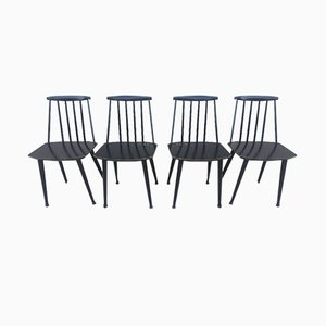Scandinavian J77 Chairs by Folke Pålsson for FDB, 1960s, Set of 4