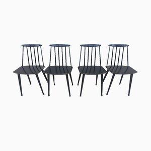 Skandinavische J77 Stühle von Folke Pålsson für FDB, 1960er, 4er Set
