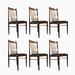 Chaises Vintage Scandinaves par H.W. Klein pour Bramin, Set de 6