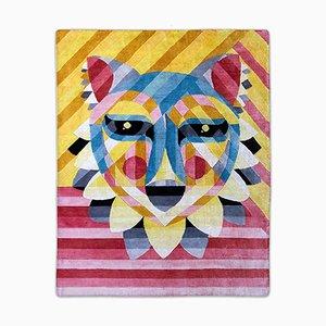 Desert Fox Teppich aus veganem Tencel & Leinen von Ruben Sanchez für Junior Monarch