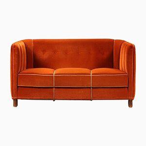 Modell 1668 3-Sitzer Sofa von Ole Wanscher für Fritz Hansen, 1940er