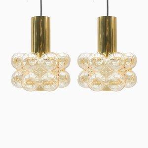 Deckenlampen aus Sideglas von Helena Tynell für Limburg, 1960er, 2er Set