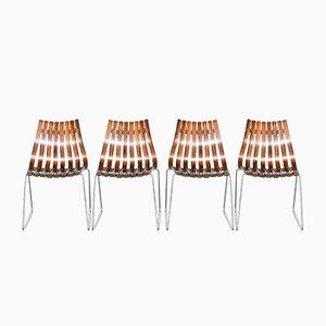 Sillas de comedor Scandia de palisandro de Hans Brattrud para Hove Møbler, años 60. Juego de 4