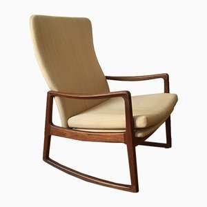 Model 160 Rocking Chair by Ole Wanscher, 1950s