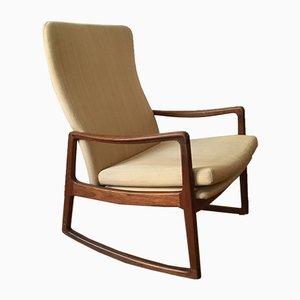 Sedia a dondolo nr. 160 di Ole Wanscher, anni '50