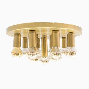 Lámpara de techo o pared era espacial con 16 luces, años 60