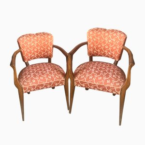 Salmon Armchairs, 1950s, Set of 2