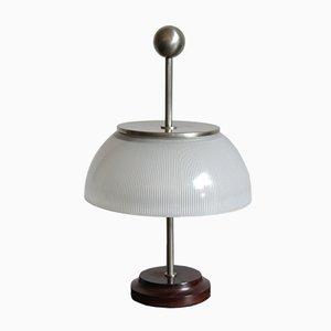 Lampada da tavolo Alfa con base in palissandro di Sergio Mazza per Artemide, anni '60