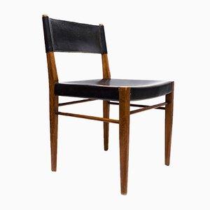 Modell 3024 Stuhl aus Teak und Leder von Helmut Magg für WK Möbel, 1950er
