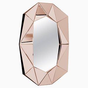 Dekorativer Spiegel mit Rahmen in Diamanten-Optik von Reflections Copenhagen