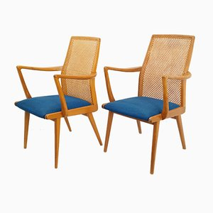 Swedish Caning & Oak Chairs from Akerblom, 1950s, Set of 2