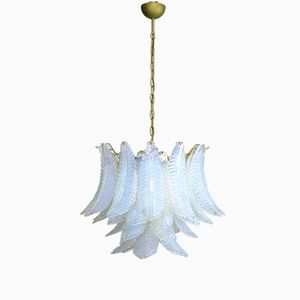 Italian Six-Tier Opaline & Murano Glass Chandelier, 1980s