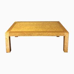 Mesa de centro italiana vintage de madera nudosa de olmo