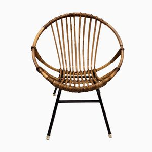 Vintage Children's Rattan Chair from Rohe Noordwolde