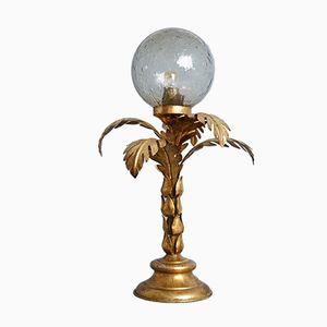 Lámpara de mesa Hollywood Regency en forma de palmera, años 70