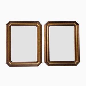 Mid-Century Holzspiegel, 2er Set
