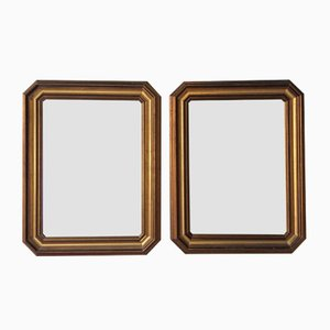 Mid-Century Wooden Mirrors, Set of 2