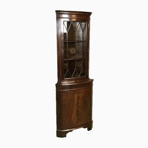 Mahogany Corner Cabinet, 1950s