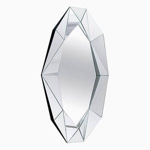 Großer Spiegel mit Rahmen in Diamanten-Optik von Reflections Copenhagen