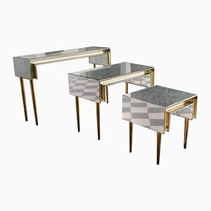 Invisible Brass Table by Rooms