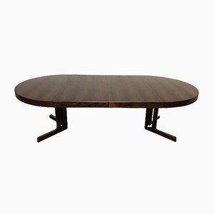 Tavolo da pranzo allungabile in palissandro di CJ Rosengaarden, anni '60