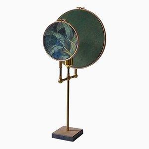 Blue Grey Circle Table Lamp by Sander Bottinga