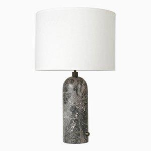 Lampada da tavolo grigia in marmo Gravity di Louis Weisdorf