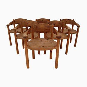 Sedie da pranzo di Rainer Daumiller, anni '70, set di 6