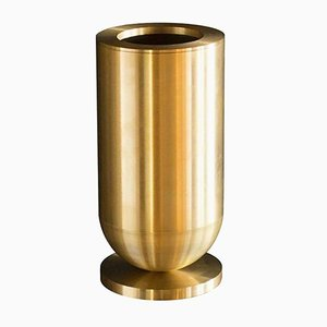 Cofete Brass Vase by Jan Garncarek