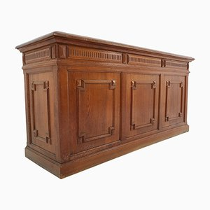 Antique French Oak Counter, 1885