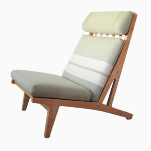 Vintage Oak Lounge Chair by Hans J. Wegner for Getama
