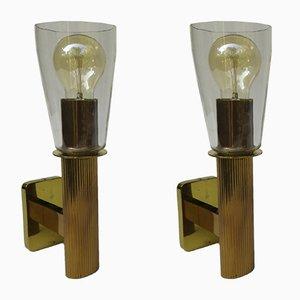Lámparas de pared vintage, años 60. Juego de 2