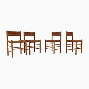 Dordogne Chairs by Charlotte Perriand for Robert Sentou, 1950s, Set of 4