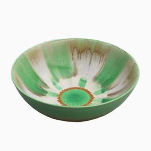 British Drip Glaze Harmony Bowl by Eric Slater for Shelley, 1930s