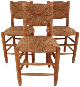 Bauche Stühle von Charlotte Perriand für Steph Simon, 1950er, 3er Set