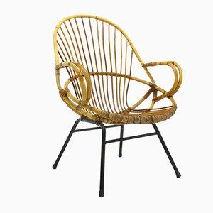 Chaise en Bambou par Dirk Van Sliedregt pour Rohe Noordwolde, 1970s