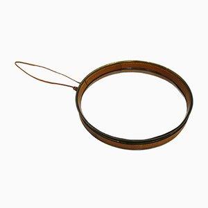 Leather & Brass Mirror, 1970s