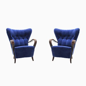 Wing Chairs, 1930s, Set of 2