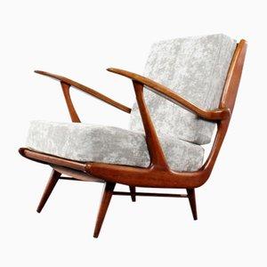Sessel aus Nussholz, 1950er