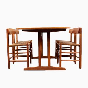 Vintage Model C18 & J39 Shaker Dining Set by Børge Mogensen for FDB