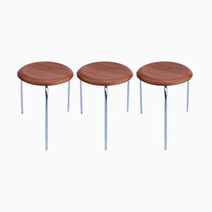 Model 2170 Dot Stools by Arne Jacobsen for Fritz Hansen, 1974, Set of 3