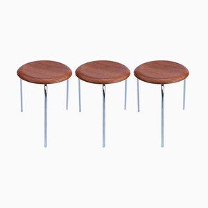 Model 2170 Dot Stools by Arne Jacobsen for Fritz Hansen, 1974, Set of 3